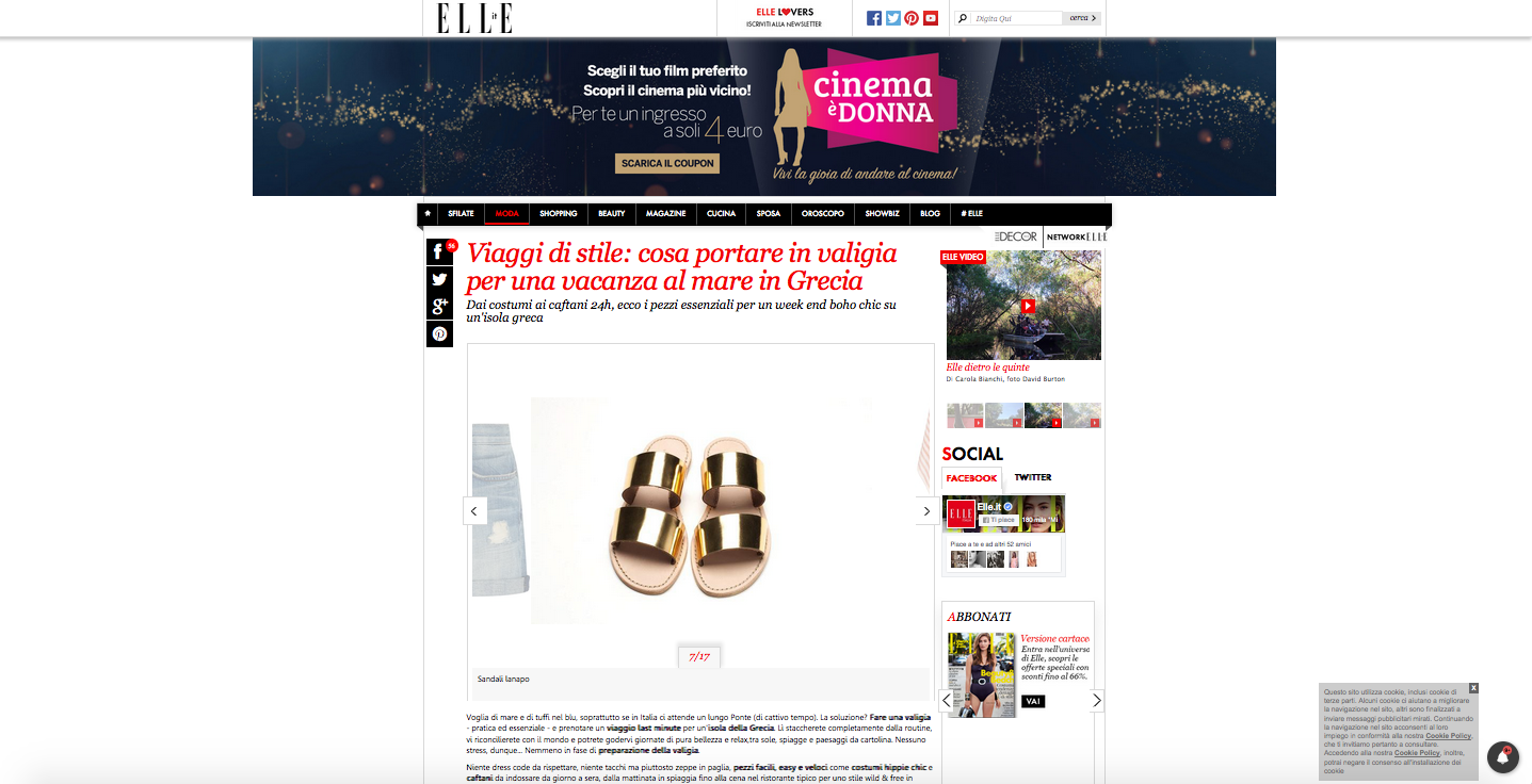 Portofino Sandals on Elle.it